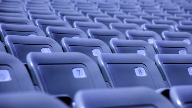 stockvideo's en b-roll-footage met empty seats in a stadium - kaal