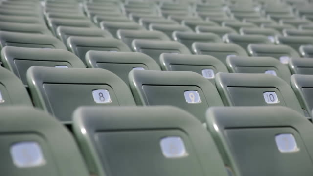 empty seats in a stadium - sparse stock videos and b-roll footage