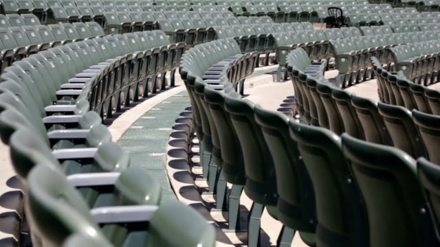 empty seats in a stadium - seat stock videos & royalty-free footage