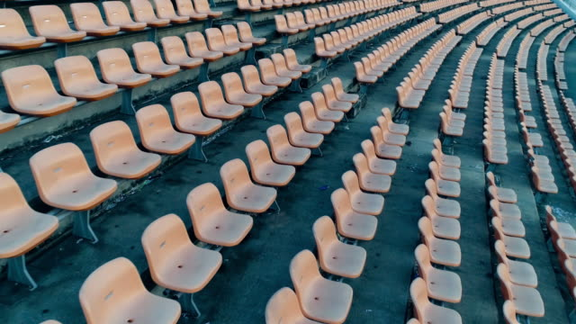 empty seats in a stadium - amphitheatre stock videos & royalty-free footage