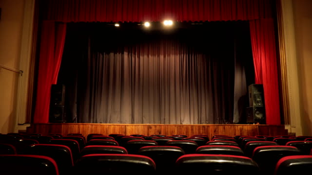 empty seats in theatre scene - barren stock videos & royalty-free footage