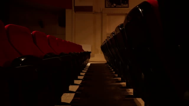 empty seats in theatre scene - stage performance space stock videos & royalty-free footage