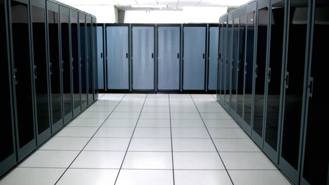ws ds ms empty server room - see other clips from this shoot 1480 stock videos and b-roll footage