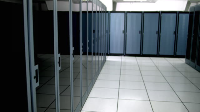 ds ms empty server room - see other clips from this shoot 1480 stock videos and b-roll footage