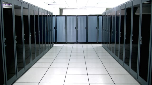 ws ds cu empty server room - see other clips from this shoot 1480 stock videos and b-roll footage