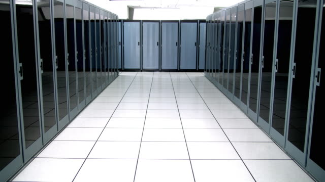 ws empty server room - see other clips from this shoot 1480 stock videos and b-roll footage