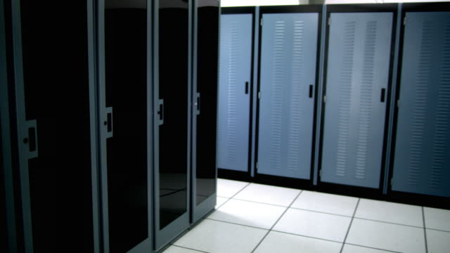 cu ds ws empty server room - see other clips from this shoot 1480 stock videos and b-roll footage
