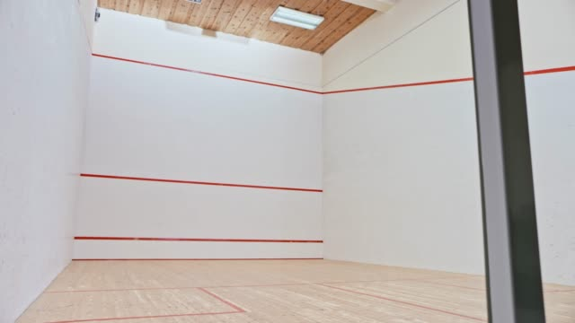 ds empty squash court - squash sport stock videos & royalty-free footage