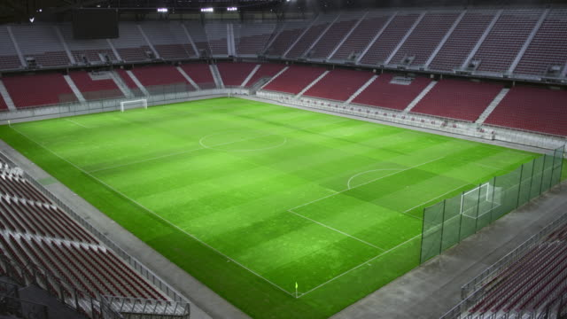 empty stadium and football field - stadium stock videos & royalty-free footage