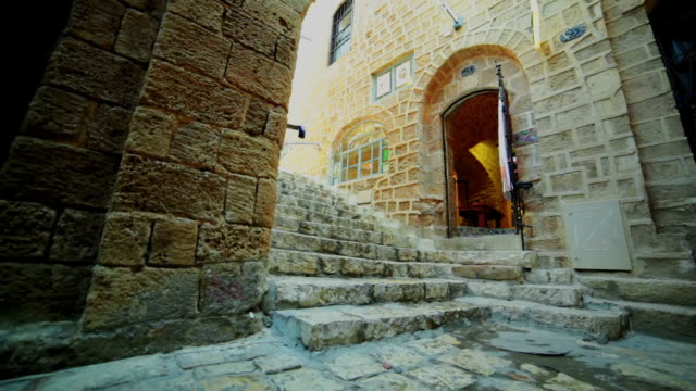 empty street in old city - jaffa stock videos & royalty-free footage