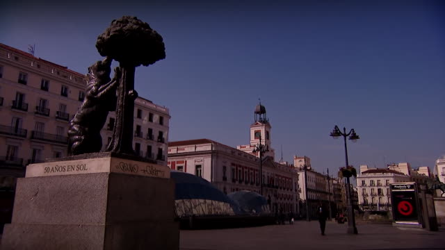 empty streets in madrid due to coronavirus outbreak - spooky stock videos & royalty-free footage