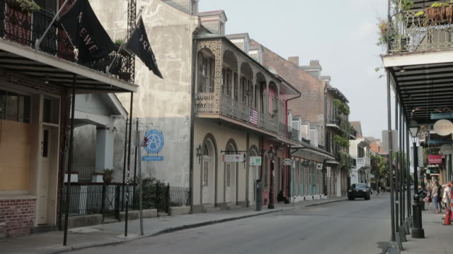 empty streets of new orleans during the covid-19 lockdown in new orleans, louisiana, u.s., on wednesday, april 8, 2020. - new orleans stock videos & royalty-free footage