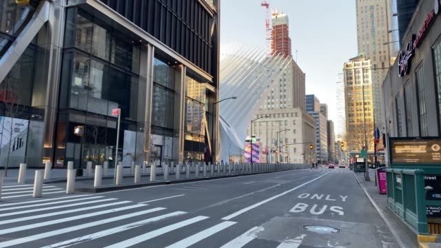 empty streets of new york - high street stock videos & royalty-free footage