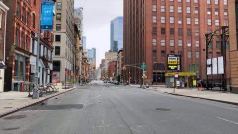 vídeos y material grabado en eventos de stock de calles vacías de nueva york - new york city