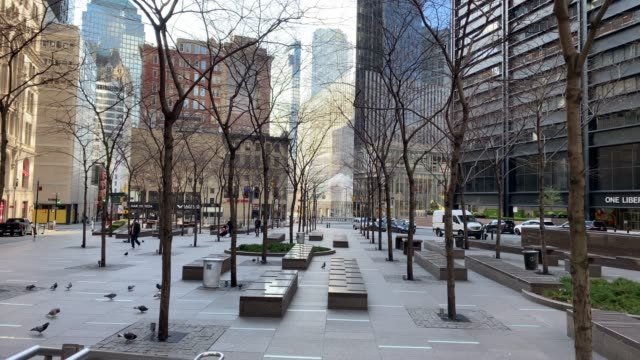empty streets of the financial district of new york - new york city stock videos & royalty-free footage