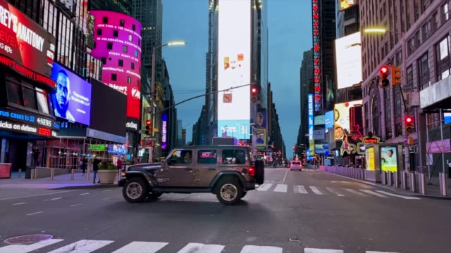 empty streets of times square - new york city stock videos & royalty-free footage