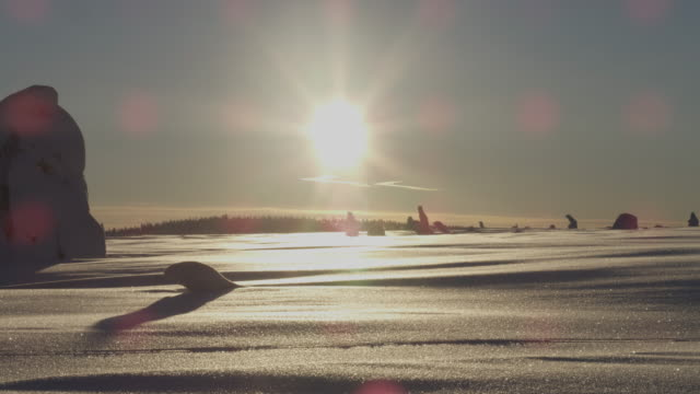 empty stunning snow landscape - covering stock videos & royalty-free footage
