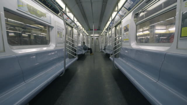empty subway car - vehicle interior stock videos & royalty-free footage