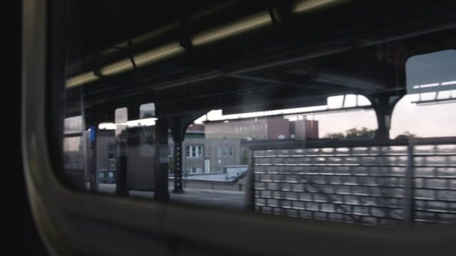empty subway platform in brooklyn. - passenger point of view stock videos & royalty-free footage