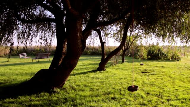 empty swing - child playground in nature - leere Schaukel