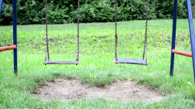 empty swing cinemagraph - swinging stock videos & royalty-free footage