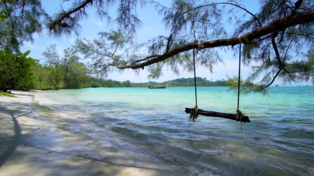 empty swing on the beach - polarizer stock videos & royalty-free footage