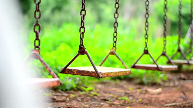 empty swing - playground stock videos & royalty-free footage