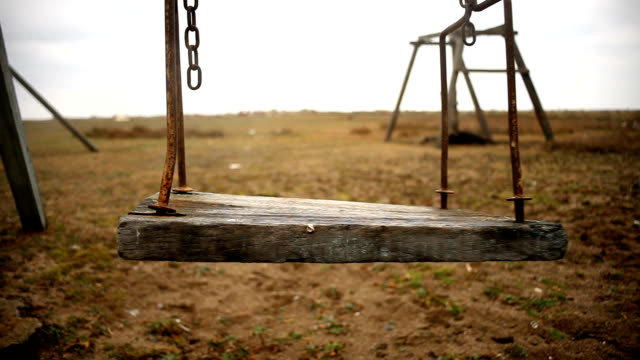 empty swing - child abuse stock videos & royalty-free footage