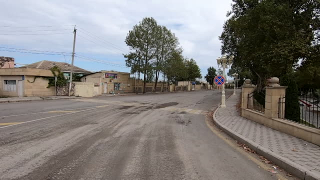 empty town of tartar that borders nagorno-karabakh, in azerbaijan, it emptied out after armenia started shelling as they fight over the territory... - plaque bacteria stock videos & royalty-free footage