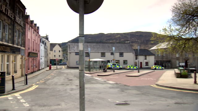 empty town on isle of skye during coronvirus lockdown - remote location stock videos & royalty-free footage