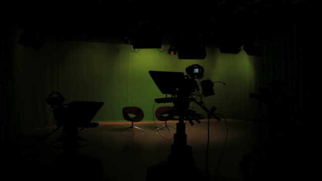 empty tv studio lights switching on - movie studio stock videos and b-roll footage