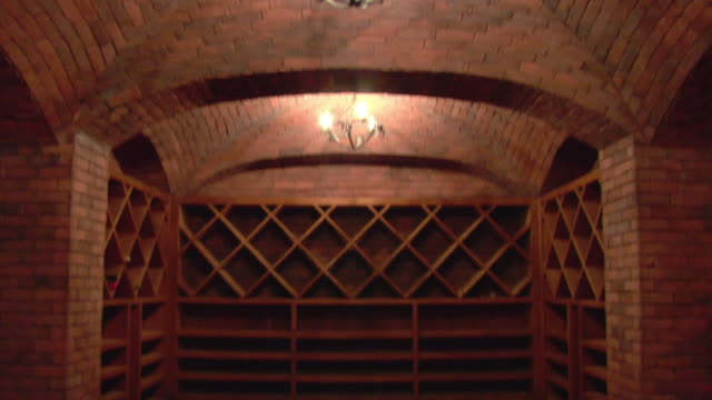 ms, td, empty wine cellar, beverly hills, california, usa - wine cellar stock videos and b-roll footage