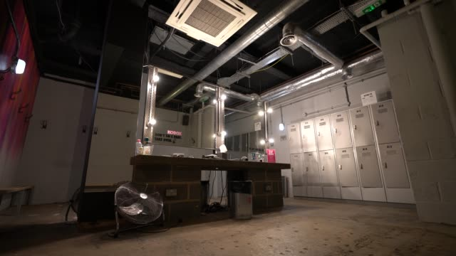 empty women's locker room at kobox, london wall as the government has yet to announce the easing of restrictions for gyms on june 24, 2020 in london,... - locker stock videos & royalty-free footage