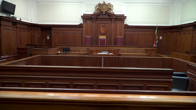 empty wood panelled courtroom - legal trial stock videos & royalty-free footage