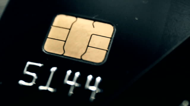 emv chip credit cards - credit card stock videos & royalty-free footage