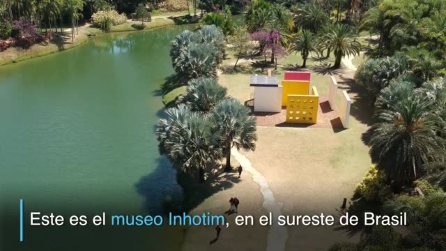 vídeos de stock, filmes e b-roll de en el sureste de brasil el museo a cielo abierto mas grande de latinoamerica inhotim volvio a inaugurar exposiciones diez meses despues de la salida... - fundador