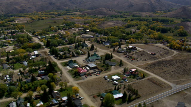 Encampment  - Aerial View - Wyoming, Carbon County, United States