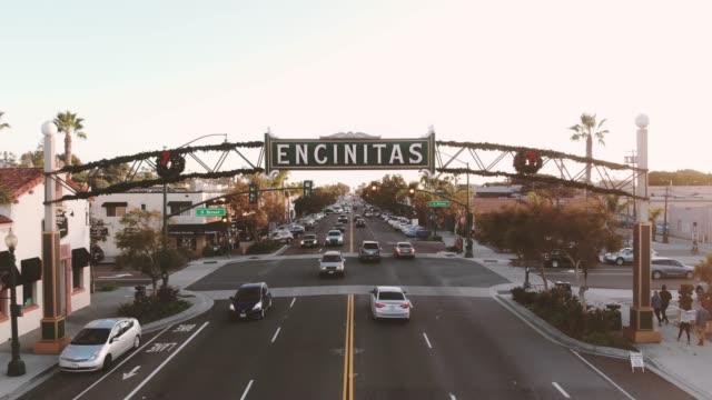 encinitas sign - san diego stock videos & royalty-free footage