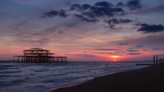 end of day in brighton - 1975 stock videos & royalty-free footage