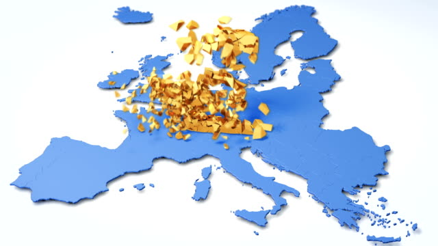 end of european currencies. euro crash down. - deterioration stock videos & royalty-free footage