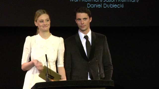 end of nominations with romola garai and matthew goode at the 2010 orange bafta nominations at london england - matthew goode stock videos & royalty-free footage