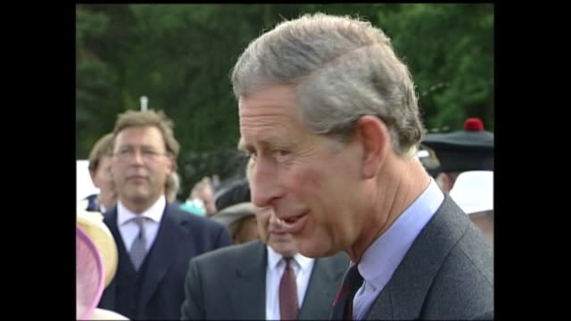 end of queen's golden jubilee tour balmoral garden party peter balmoral balmoral castle queen elizabeth ii chats with guests cms ls prince charles... - golden jubilee stock videos & royalty-free footage