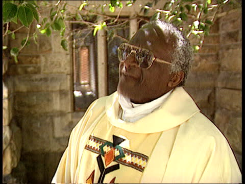 End of year report EXT CMS Archbishop Desmond Tutu intvw SOT It will be a wonderful Christmas/ I will be acknowledged as a human being/ it will be...