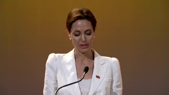 'End Sexual Violence in Conflict' Global Summit opens in London Angelina Jolie speech SOT It is a myth that rape is an inevitable part of conflict...