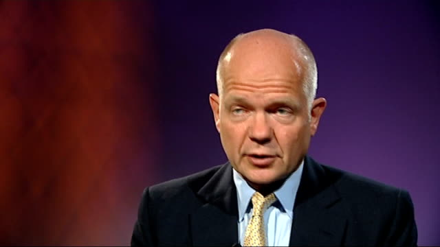 'End Sexual Violence in Conflict' Global Summit opens in London William Hague interview ENGLAND London INT William Hague MP interview SOT on crime of...