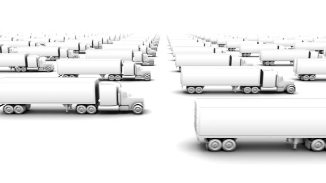 endless box trucks side view loop - eternity stock videos & royalty-free footage