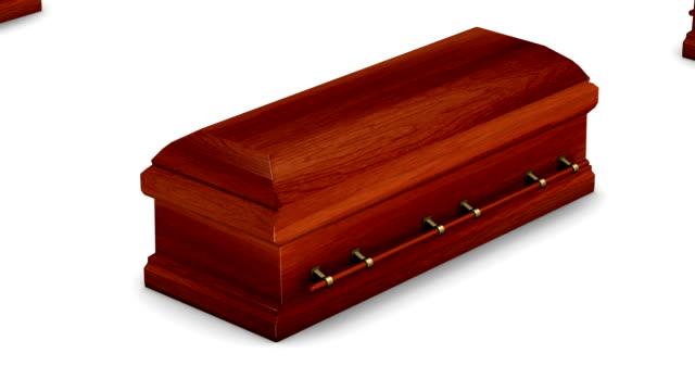 endless coffins (wood) vertigo effect - coffin stock videos and b-roll footage
