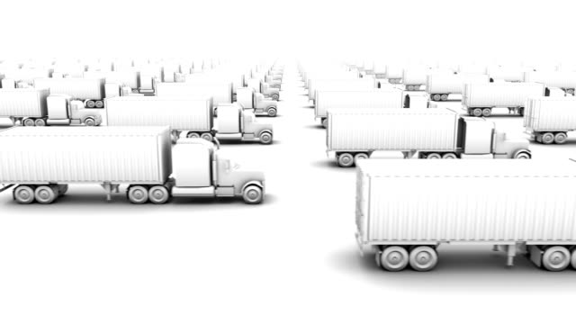 endless container trucks side view loop - eternity stock videos & royalty-free footage