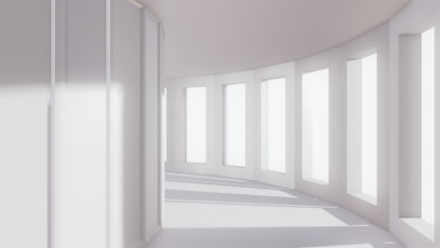 infinite corridor/ad anello - 4 k - colonna architettonica video stock e b–roll