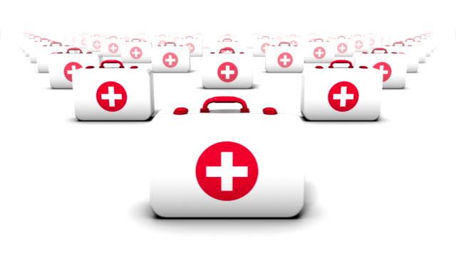 endless first aid kits front view loop - första hjälpen sats bildbanksvideor och videomaterial från bakom kulisserna